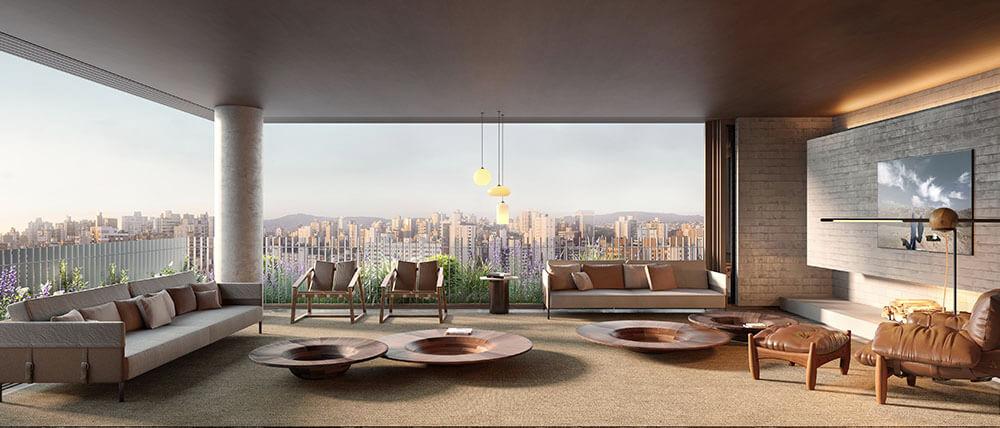 Apartamento living A